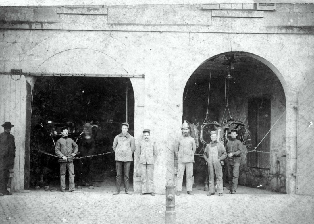 The Alamo Association of firefighters from the turn of the century.