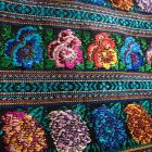 A detail of textiles on display.
