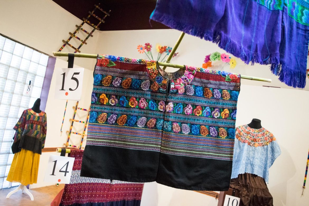 Textiles are on display at the Hilos que Hablan: Textile Legacy and Life of Mariana Ornelas exhibit.