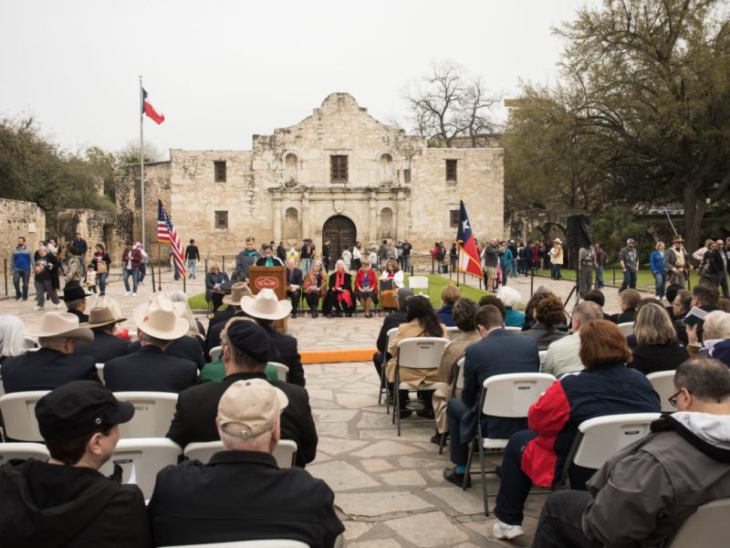 Texas Independence Day at Alamo Plaza.