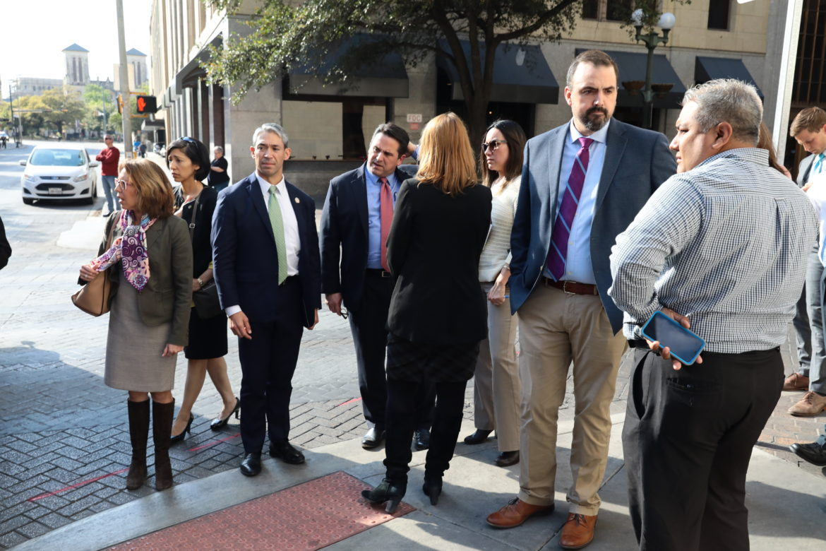 City staff including Mayor Ron Nirenberg, City Manager Erik Walsh, Councilwomen Shirley Gonzales and Ana Sandoval arrived on scene following the incident.