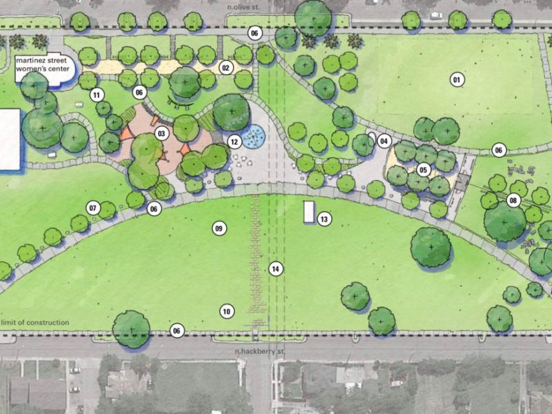A proposed plan of the near Eastside park calls for the closing of Burnet Street.