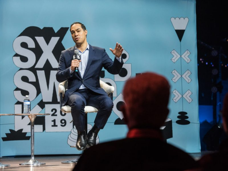 Former United States Secretary of Housing and Urban Development, Julián Castro speaks with HuffPost editor in chief Lydia Polgreen at Austin City Limits Live at the Moody Theater during South by Southwest, on Sunday, March 10th, 2019.