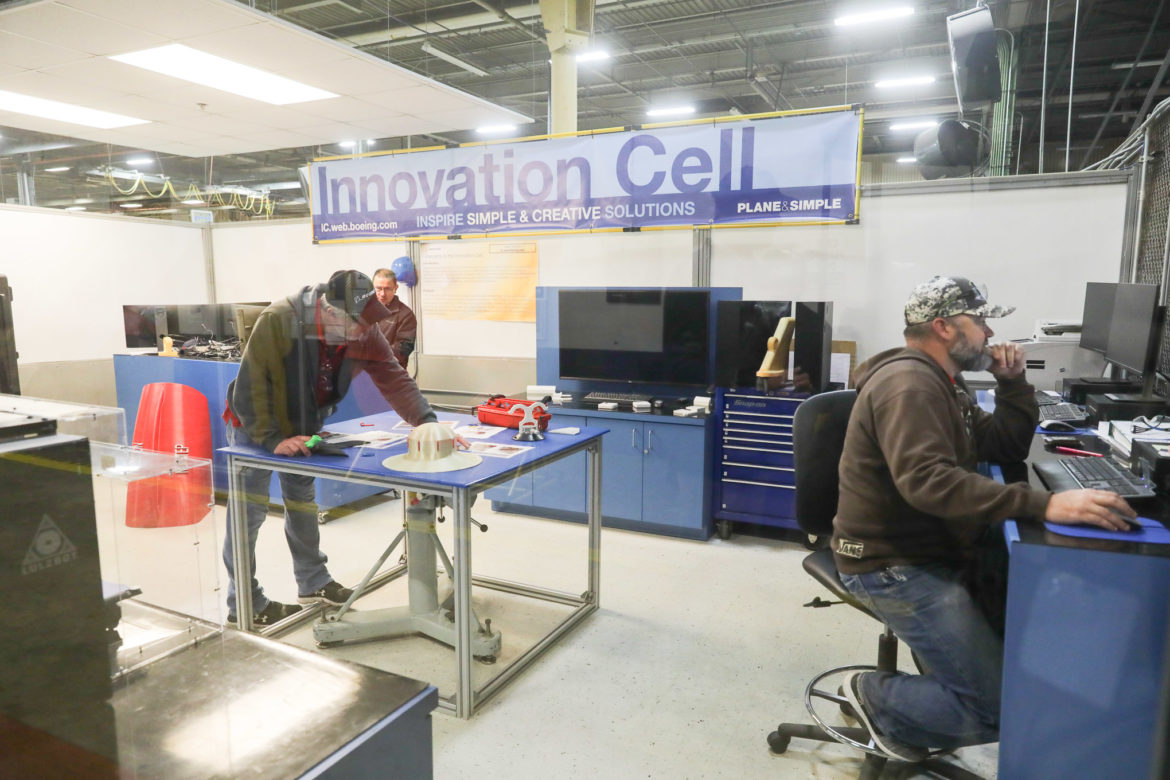 The innovation cell at Boeing San Antonio