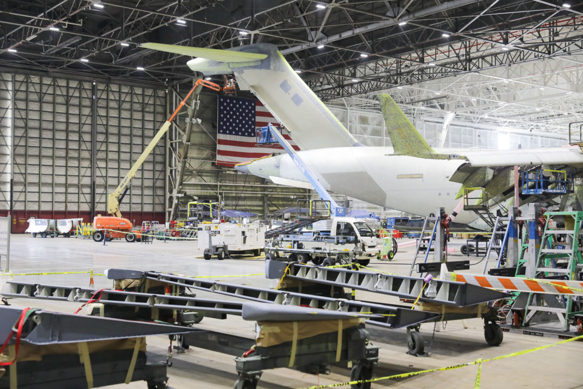 Boeing continues work on C-17 planes as they prepare for an incoming fleet of F-18 fighter jets from the United States Navy.