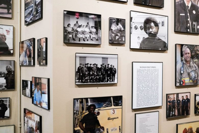 A wall honoring black firefighters was recently added to the museum.