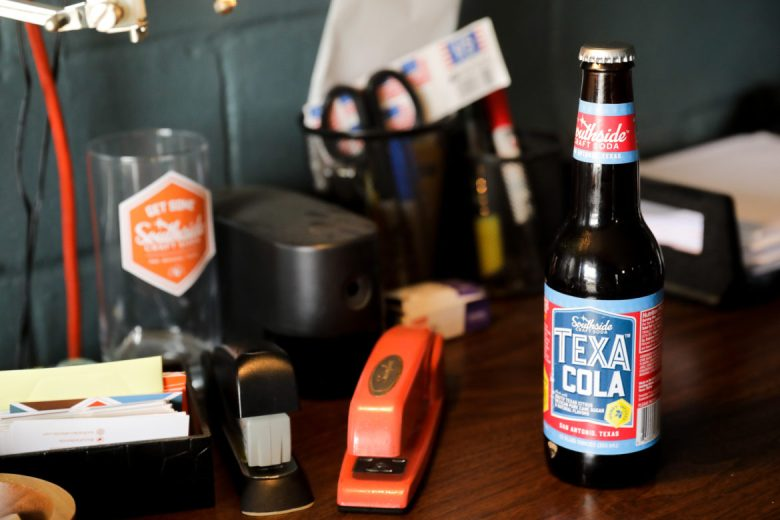 TexaCola is the first production craft soda to be made for distribution by Southside Craft Soda