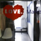 The entrance to the LOVE. Marketing office.