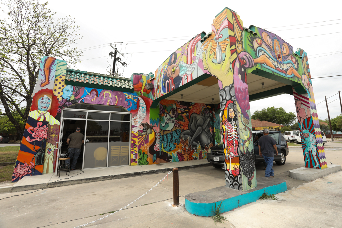 A mural has been installed on newly opened Little Death wine bar.