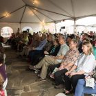 The tent is full for God Save Texas with Lawrence Wright.