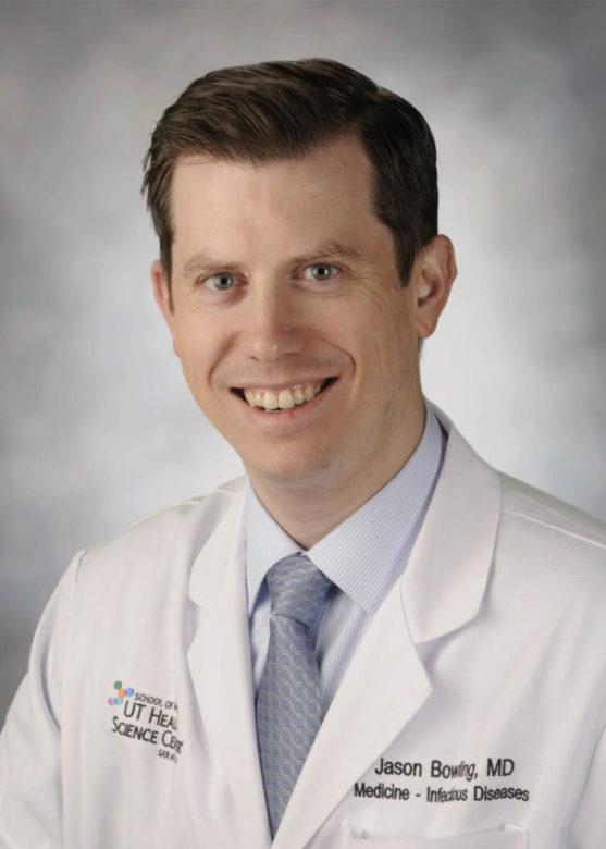 Dr. Jason Bowling, infectious disease specialist at UT Health San Antonio.
