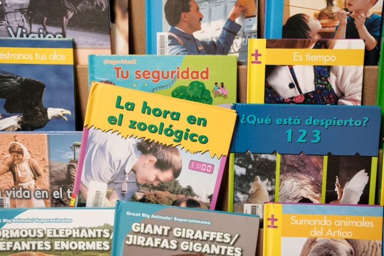 Spanish language books can be found throughout Miriam Hernandez's classroom.