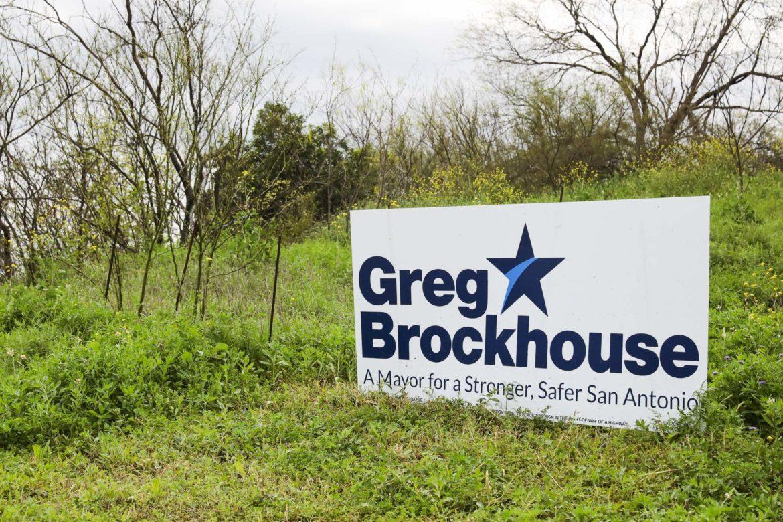 Campaign signage for Greg Brockhouse