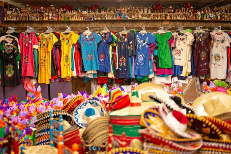 Ladies dresses, straw hats, and piñatas are just a few of the items sold by Fiesta at North Star.