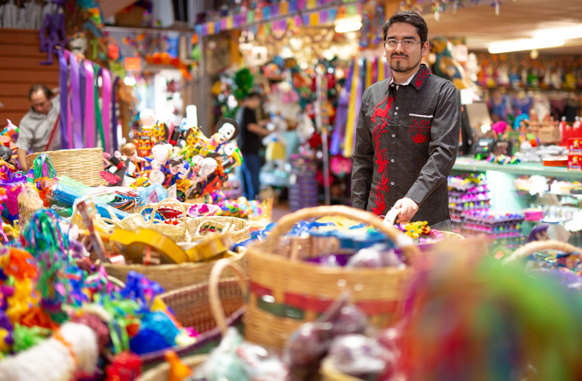 Luis Cortez stands near the center of the Fiesta at North Star store.