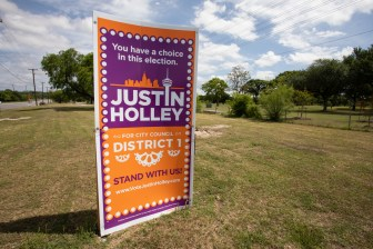 The campaign poster for Justin Holley.