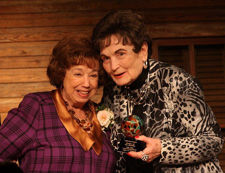 (From left) Olga Madrid and Lila Cockrell.