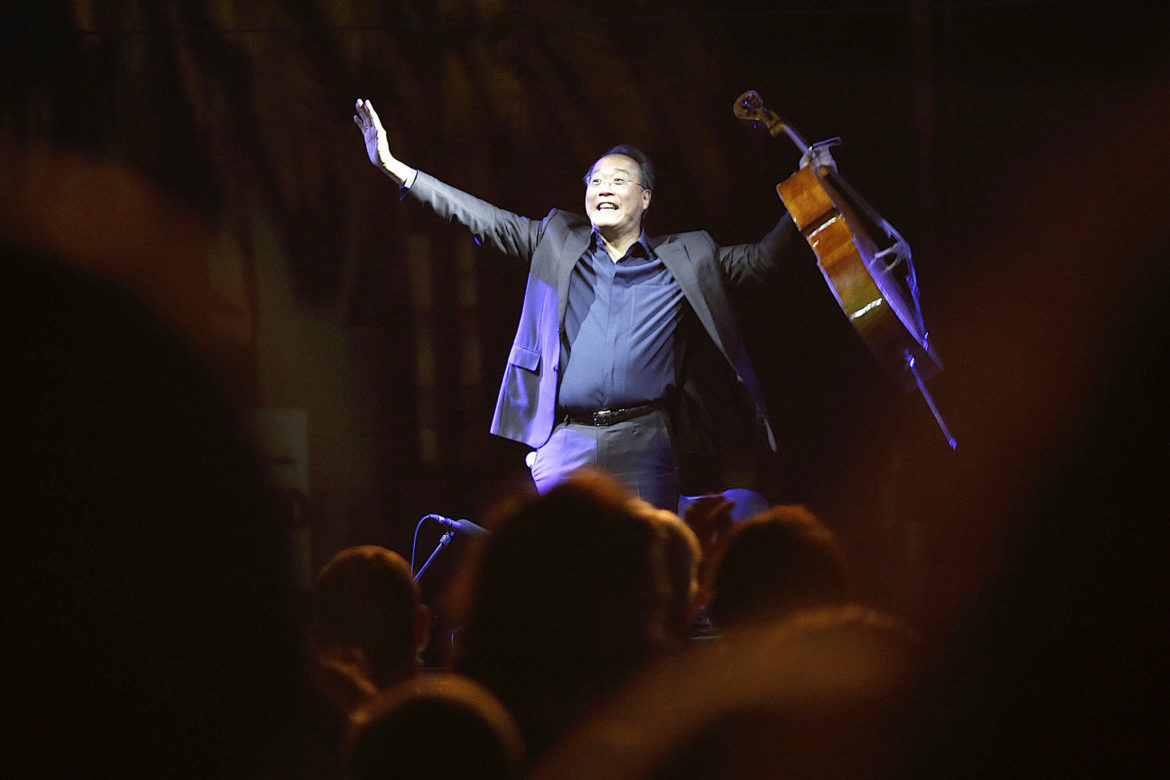 Yo-Yo Ma will play at Laurie Auditorium at Trinity University on April 12.