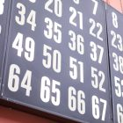 A board lights up to show which numbers have been called.