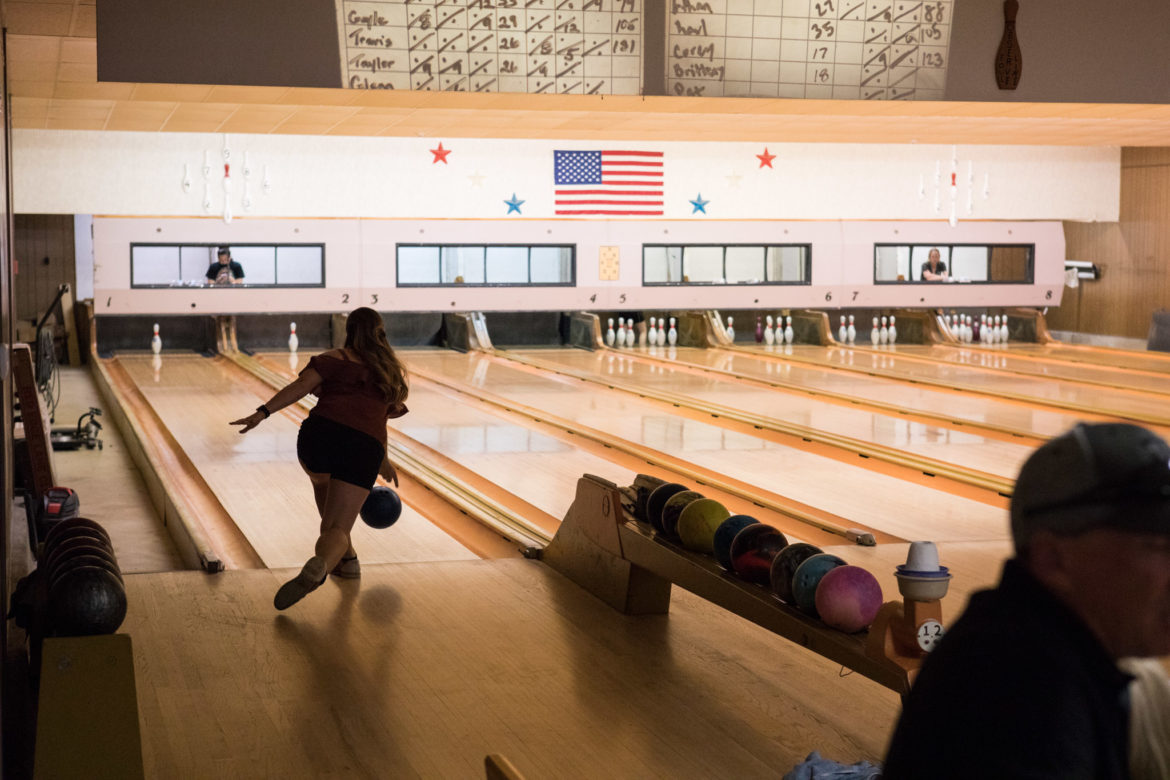 9-pin bowling is available at the back of Martinez Social Club.