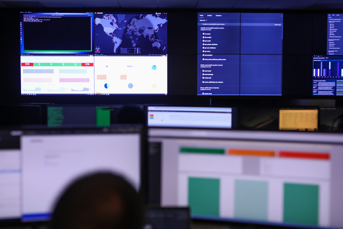 Accenture's new Cyber Center employs about 40 cyber defenders in its new service.