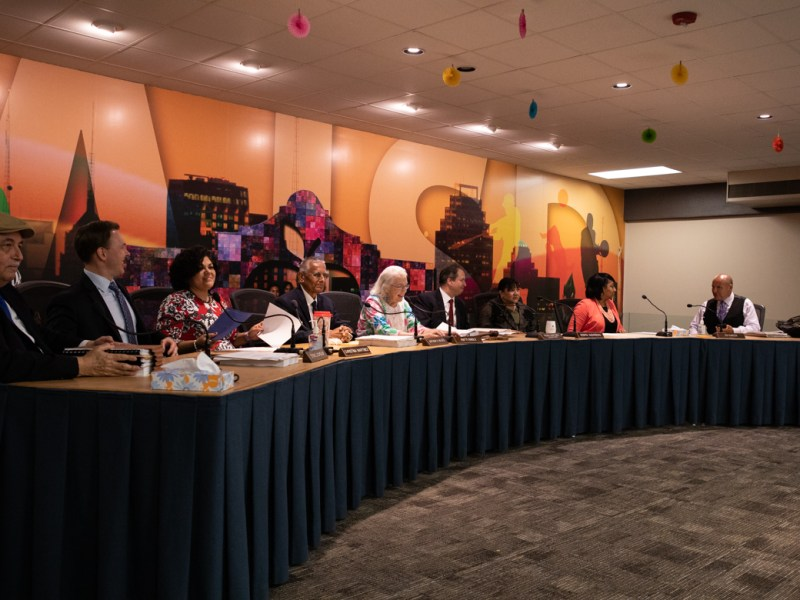The SAISD school board as of May 13, 2019.