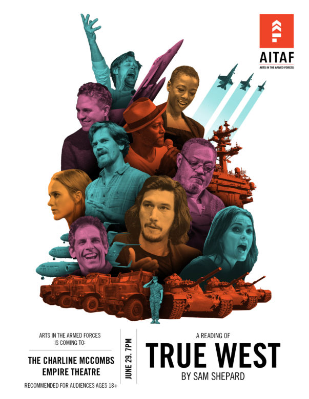 AITAF presents a reading of True West by Sam Shepard will be performed at Empire Theatre on June 29th.