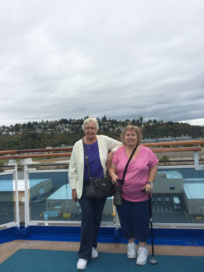 (left) Kathy and Kay on their cruise. (left) Kathy and Kay on their cruise.