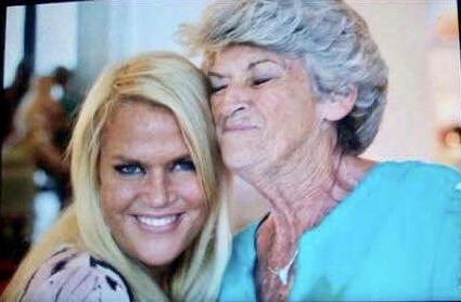 (left) Kym Rapier and her mother Susan Hall.