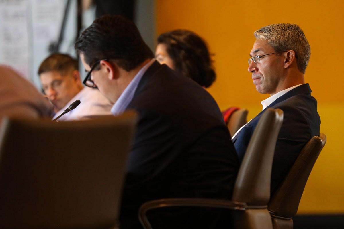 Mayor Ron Nirenberg listens as the 2020 budget meetings are underway.
