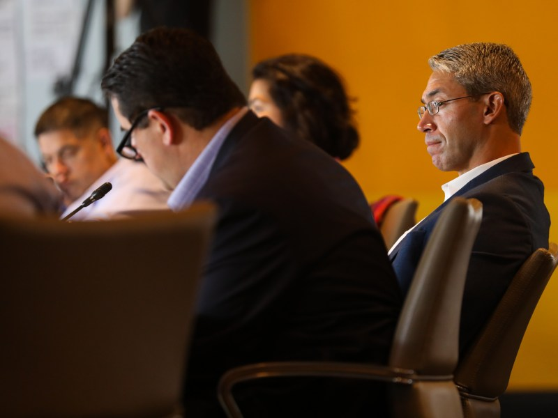 Mayor Ron Nirenberg listens as the 2020 budget meetings are underway.