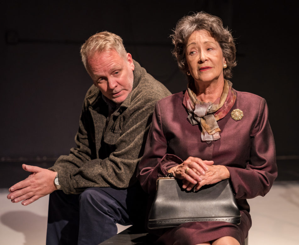 Andrew Thornton plays Warren, Kathy Couser plays his mother Peggy