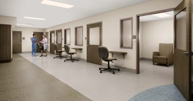 A rendering of the Baptist Medical Center holding area.