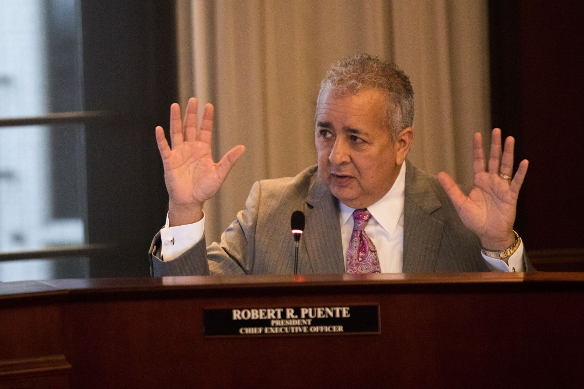 San Antonio Water System President and CEO Robert Puente has accepted a salary increase and bonus for work performed in 2018.