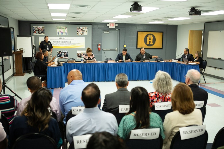 The Harlandale ISD board of trustees