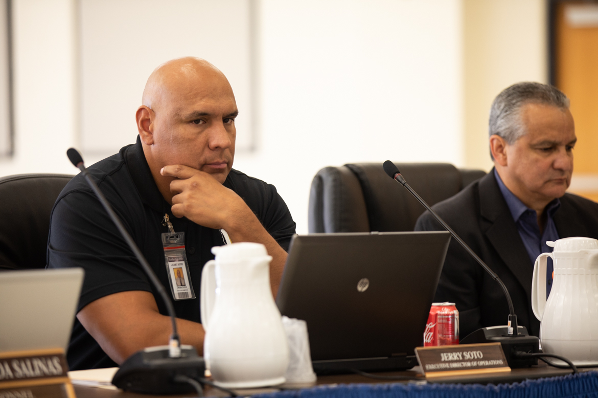 Gerardo Soto (left) is superintendent of Harlandale ISD.