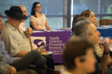 Family Violence Prevention Services Inc. also had a table at the event.