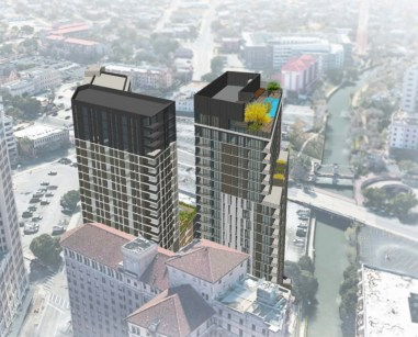 A rendering of St. Mary's Tower at 126 Villita St.
