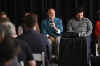 (center) Weston Urban CEO Randy Smith