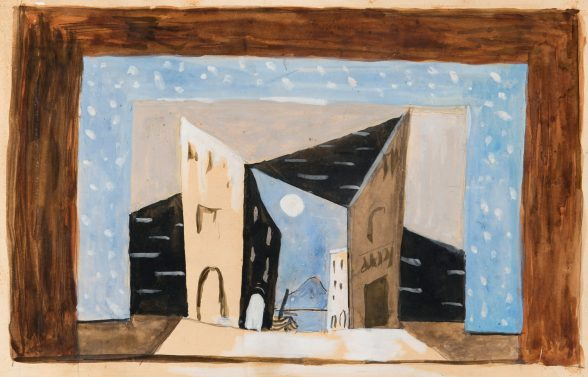 Scene design for Pulcinella Pablo Picasso, ca. 1920