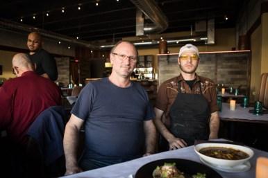 Julia's Bistro & Bar owner Jean Francois-Poujol (left) and chef de cuisine Zack McKinney