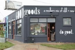 Owner D'Ette Cole stands in the doorway of GOOD Goods.