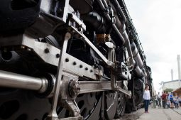 A detail of the Union Pacific 4014 train.