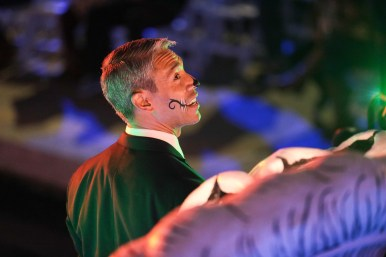 Mayor Ron Nirenberg led the Catrinas on the River Parade with the opening river barge.