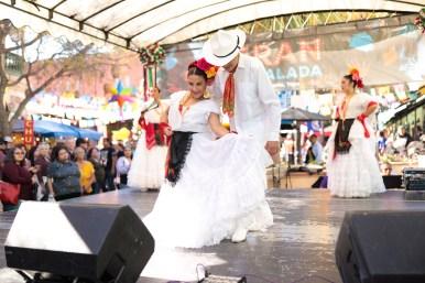 Grupo Folklorico De Bendiciónes performs onstage during La Gran Tamalada.