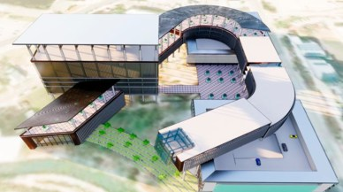 An aerial rendering of the future Project Legatum.