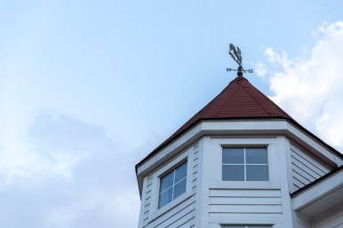 The Benavidez home's weather vane in action before a thunderstorm rolls through.