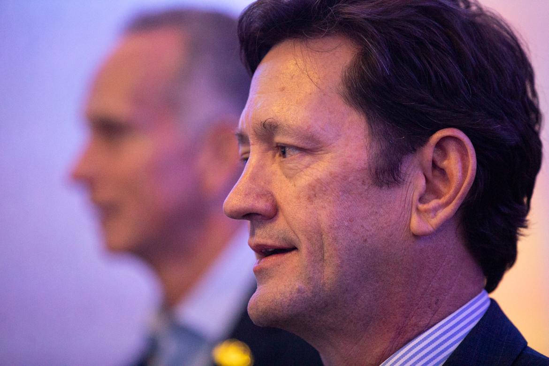 USAA CEO Wayne Peacock (foreground).