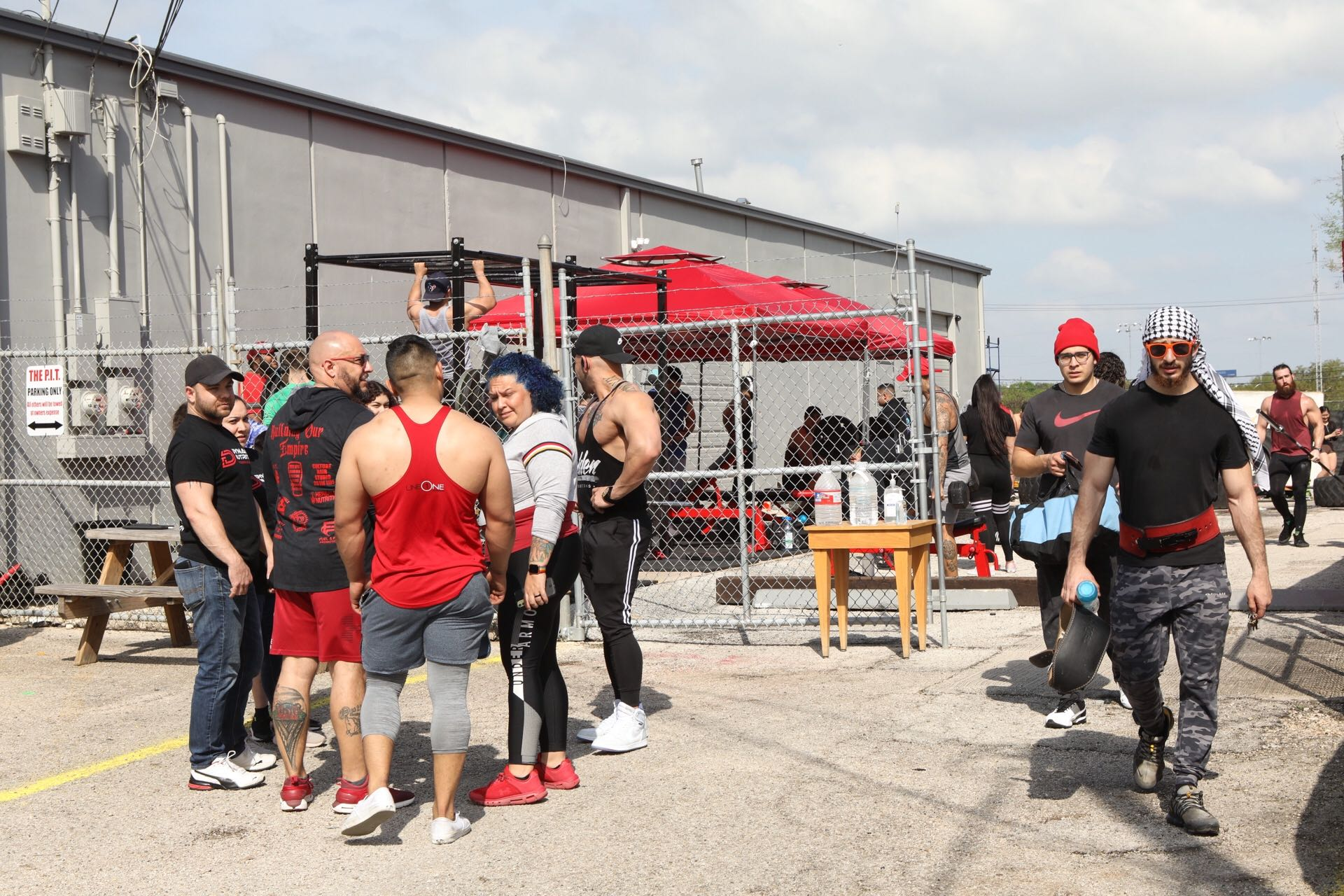 The P.I.T., a Northside gym, remained open Monday afternoon despite a statewide shutdown order for non-essential businesses.