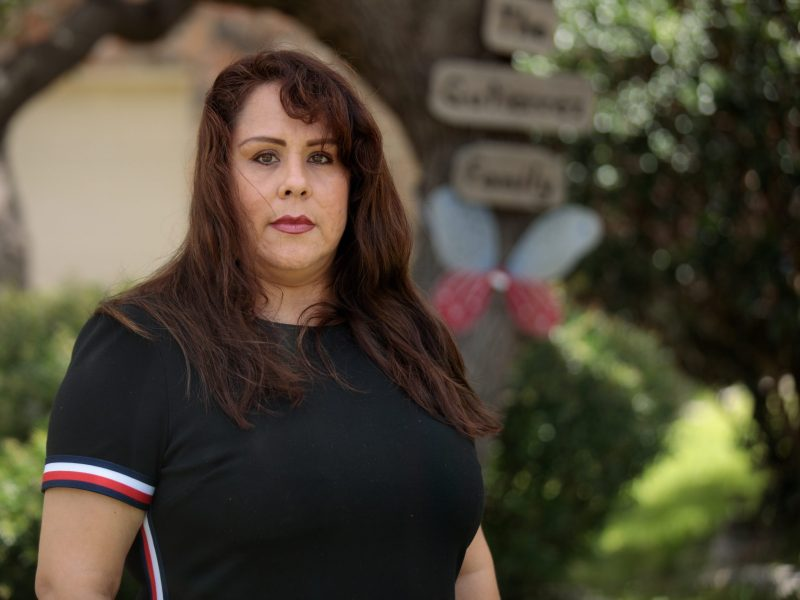 Laid off from her job in June, Tina Gutierrez is relying on unemployment benefits and withdrawals from her retirement account to make ends meet.